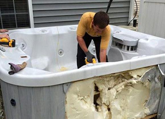 Hot Tub Removal Process