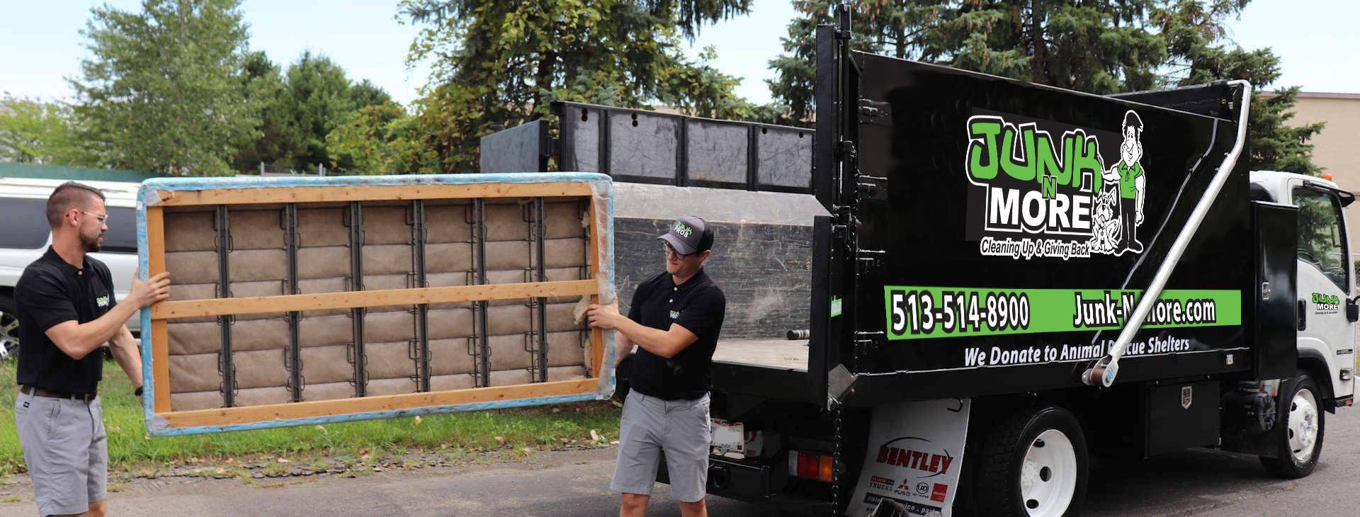 Loading Mattress on Truck
