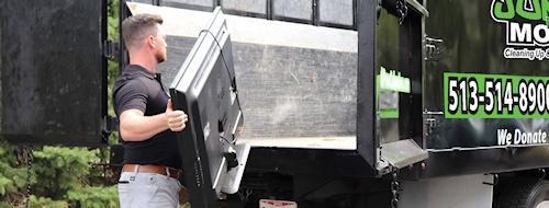 Loading TV on Truck